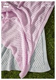 Eyelet Blanket - Cotton 8 Ply