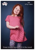 Top Down Girls Dress - Cotton 8 Ply