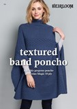 NEW - Textured band poncho