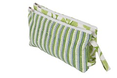 Radiance - Double Zipper Pouch L Greenery